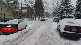 NBC 5 Investigates the un-plowed 4600 block of N Kelso
